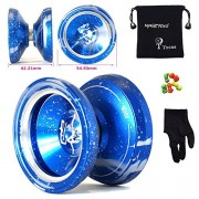 MAGICYOYO M002 April Unresponsive Professional YoYo Weight Ring YoYos 5 String+Glove+Bag