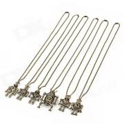 DIY Robot Clashes Pendant Zinc Alloy Necklace - Antique Brass (6 PCS)