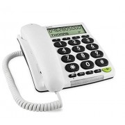 Doro HearPlus 313ci Teléfono (DECT, Color blanco, Base, Wall/Desk, Monochrome)
