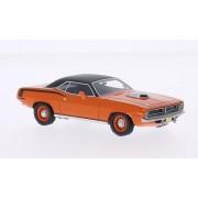 Plymouth Cuda 426 Hemi, anaranjado/negro mate, 1970, Modelo de Auto, modello completo, BoS-Modelos 1:43