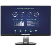 "Monitor IPS LED Philips 25"" 258B6QUEB/00, WQHD (2560 x 1440), VGA, DVI, HDMI, DisplayPort, USB, 5 ms, Boxe (Negru)"