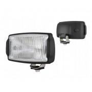 Ködfényszóró (téglalap) 220x123 mm fehér üveg, fekete ház