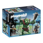 Playmobil Knights Giant Troll with Dwarf Fighters - figuras de construcción (Playmobil, Multicolor, Niño, 6000, 6001)
