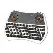 Rii RT-MWK28 mini teclado + 6-axis gyroscope air mouse + touchpad para TV BOX - blanco + negro