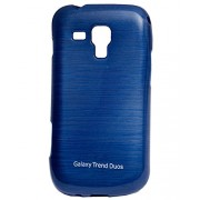 iCandy™ Soft TPU Shiny Back Cover For Samsung Galaxy Samsung Galaxy S Duos S7562 / S Duos 2 S7582 - Blue