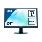 AOC 24 inch LED Monitor, Height Adjust, HDMI, DVI, VGA, 4 x USB Ports, Speakers, Vesa E2460PHU