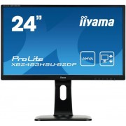 "Monitor AMVA LED iiyama 23.8"" XB2483HSU-B2DP, Full HD (1920 x 1080), VGA, DVI, DisplayPort, 4 ms, Boxe (Negru)"