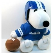 SNOOPY FOOTBALL Player Plush (Metlife Collectible)
