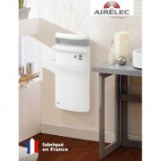 AIRELEC Seche-serviettes AIRELEC INDIGO 1400W - Rayonnant + soufflerie - BLANC - A690465