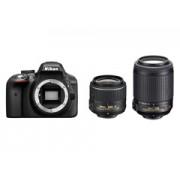 Nikon D3300 + 18-55VR + 55-200VR fekete tükörreflexes digitális fényképezőgép