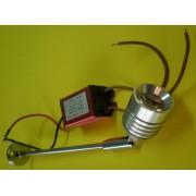 Lampa decorativa 1x1W, 1W, 70 lm, 220V, cu sursa