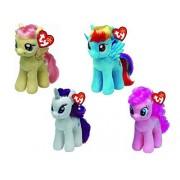 Ty My Little Pony Bundle Set, Rainbow Dash, Pinkie Pie, Fluttershy, Rarity by Ty Beanie Babies