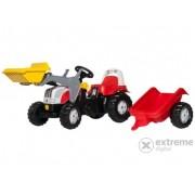 Tractor cu pedale și cupă Rolly Kid Steyr 6160 CVT cu remorcă