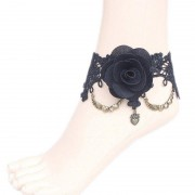 rosegal Gothic Floral Heart Lace Anklet
