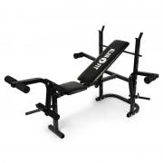 Klarfit Workout Hero Hantelbank mit Ablage Armcurler Beincurler 160kg schwarz