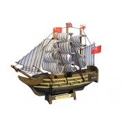 """Wooden Hms Victory Tall Model Ship 7"""" Military Ships Historically Significa"""