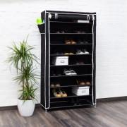 Pantofar panza pentru 45 perechi pantofi-negru