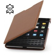 StilGut Book Type, funda de cuero para BlackBerry Passport, en coñac