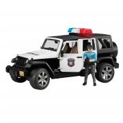 Bruder Jeep Wrangler Rubicon Police Vehicle - Black