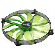 Ventilator 200 mm Aerocool Silent Master Green LED