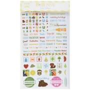 BoBunny Essentials-Adesivi, motivo Summer Fun, altri, multicolore