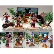 Mickey Mouse Clubhouse Birthday Cake Topper Featuring Mickey Mouse Minnie Mouse Donald Duck Daisy Duck Goofy...