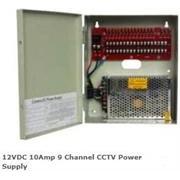Casey 12VDC 10Amp 9 Channel CCTV Power Supply