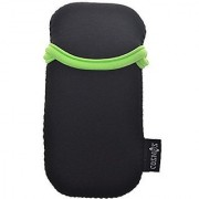 COSMOS Black and Fluorescent Green Neoprene Carrying Protection Sleeve Case Pouch Cover for Microsoft Arc Touch Mouse