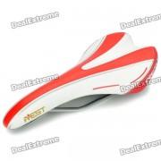 AEST YSAD-03 para bicicleta Saddle Seat - Red + White