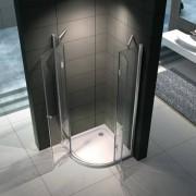 VB ITALIA Box doccia semicircolare lusso in vetro trasparente spesso 8 mm