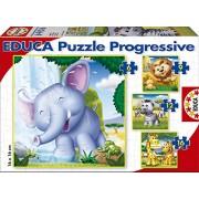 """Educa 15619 - Puzzle progressivo per bambini """"Animali selvaggi"""""""