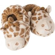 Suki Baby 'Bing Bing Giraffe' 10049 - Scarpine Neonati con Giraffa 'Bing Bing' di Peluche, con Dettagli Ricamati, 13 cm, Stampa Giraffa In Marrone Bicolore
