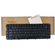 Eathtek Replacement Keyboard with Frame for HP Pavilion DV6-3000 DV6-3100 DV6-3200 series Black US Layout Compatible part number 597635-001 597635-001