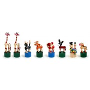 Small Foot Company - 7228 - Figurine Animal - Lot D'animaux Poussoir