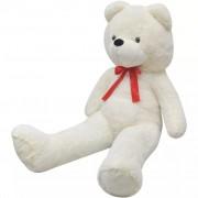 vidaXL Мека плюшена играчка - мече, бяла, 100 см, XXL