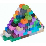 Premium Big Briks 24 Color Solid and Clear Basic Builder Set #2 - 108 Pack - (Big LEGO DUPLO Compatible) - Large Pegs