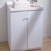 Lavatoio in acrilico e mobile 60x60 Nettuno