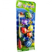 Fishing Game set with Rod 6 fish For Kids