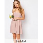 TFNC Шифоновое платье‑бандо мини TFNC WEDDING - Розовый
