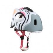 Casca bicicleta copii Zebra cu LED