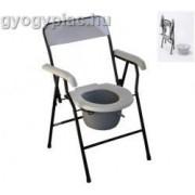 Standard összecsukható szoba wc, fém váz, műanyag ülőke