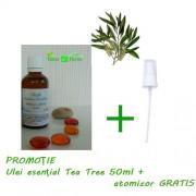 Ulei de Tea Tree - Arbore de Ceai Australian 100% pur, 50 ml+CADOU Atomizor