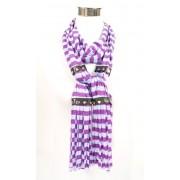 Hippe sjaal met streep design paars