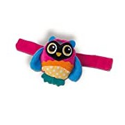Oops Colourful and Multi-Textured Soft Wrist Rattle in Super Cute Owl Design