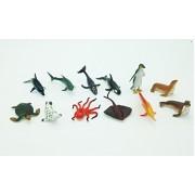 Mini Sea Animals Figurine 12 Assorted Styles High Quality Relastic Toys, Plastic Toy Safari Animals, 72 count
