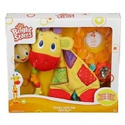 Bright Starts Teethe With Me Gift Set - Twist and Teethe toy Rattle and Shake Barbell Snuggle and Teethe Giraffe Polar Gel Teether - 4 most popular toys in one set!