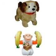 Battery Operated Jumping Puppy Dog Banana Monkey for kids