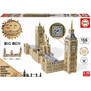 Puzzle din lemn 3D Monument Big Ben London Educa 156 bucăţi de la 6 ani