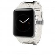 CaseMate Sheer Glam Strap - еластична каишка за Apple Watch 38mm (прозрачен-златист)