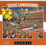 Jigsaw Puzzle - University of Texas Longhorns-UT-100 Pc By Dowdle Folk Art